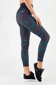 Breathable leaf print Freddy Energy Pants® leggings