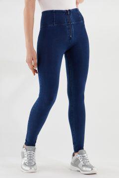 Pantalón WR.UP® pitillo de talle alto y largo estándar de denim elástico