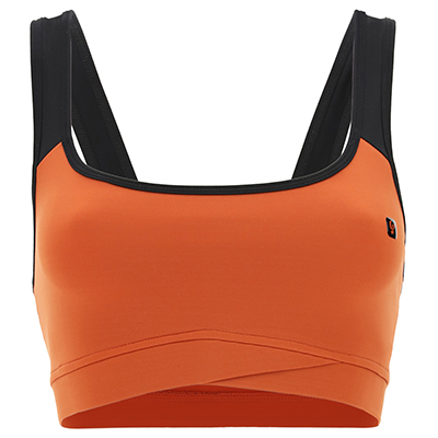 Yoga top with contrast straps