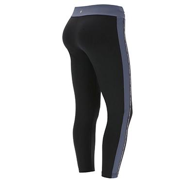Leggings with an overlap waistband