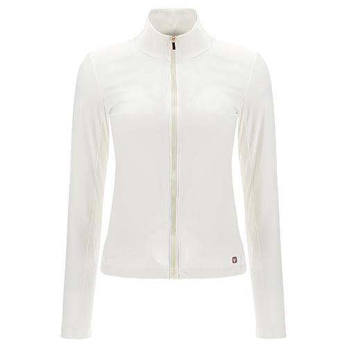Slim-Sweatshirt mit Reißverschluss aus recyceltem Gewebe