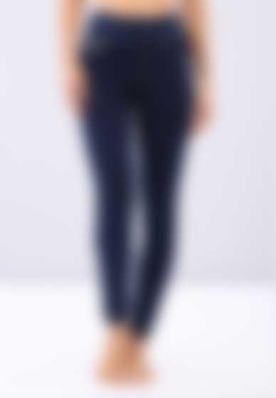 Jerseyhose aus Denimstoff der Linie N.O.W.® Pants mit Umschlag an der Taille