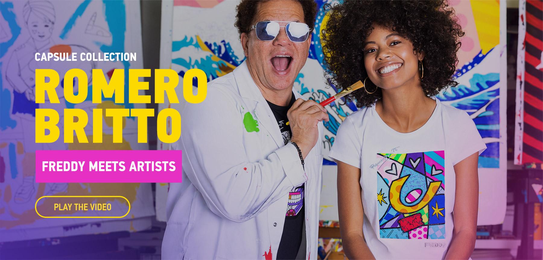 FREDDY MEETS ARTISTS: ROMERO BRITTO