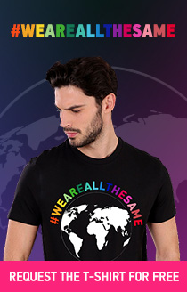 #WEAREALLTHESAME Request the T-shirt for free