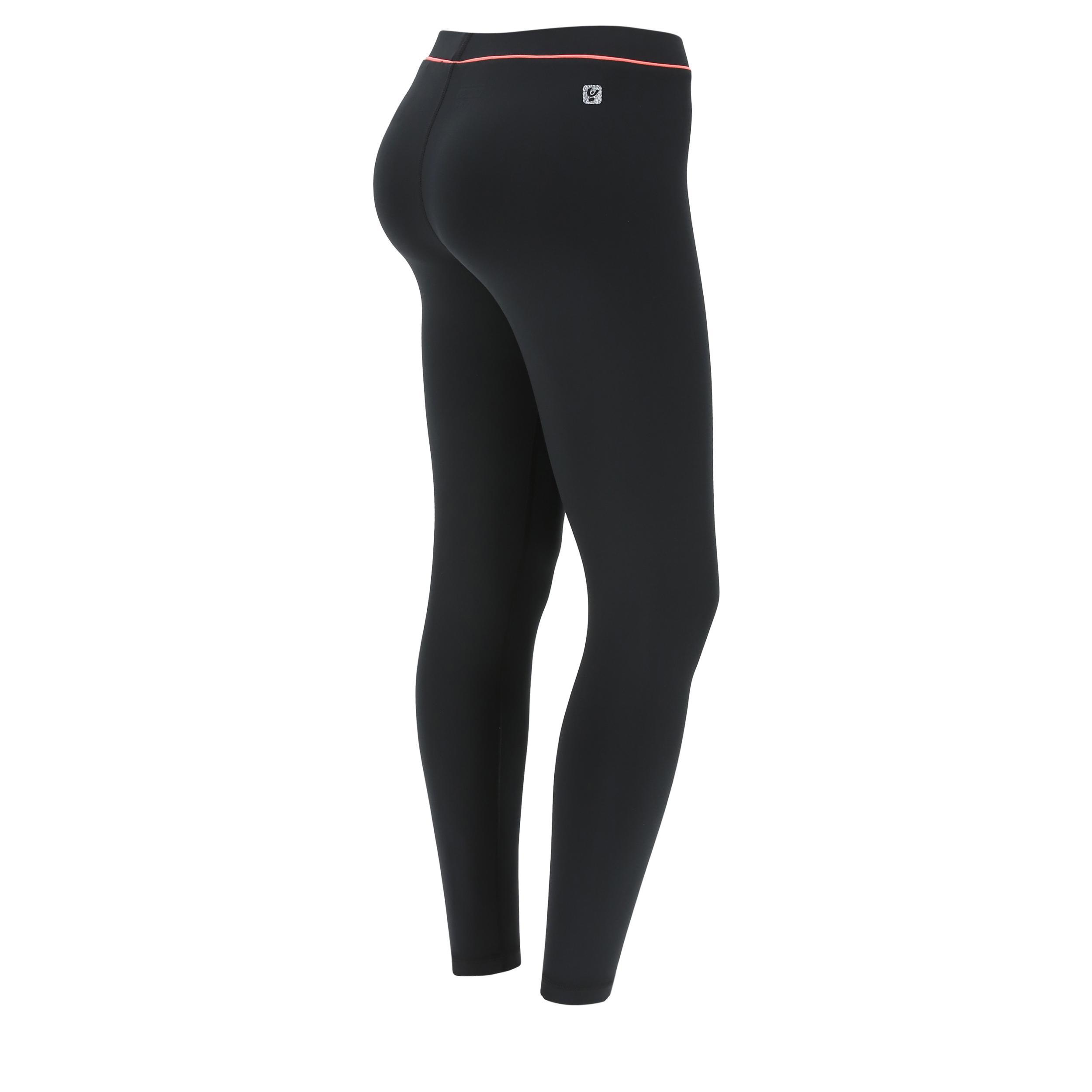 Leggings fitness neri con dettaglio a contrasto