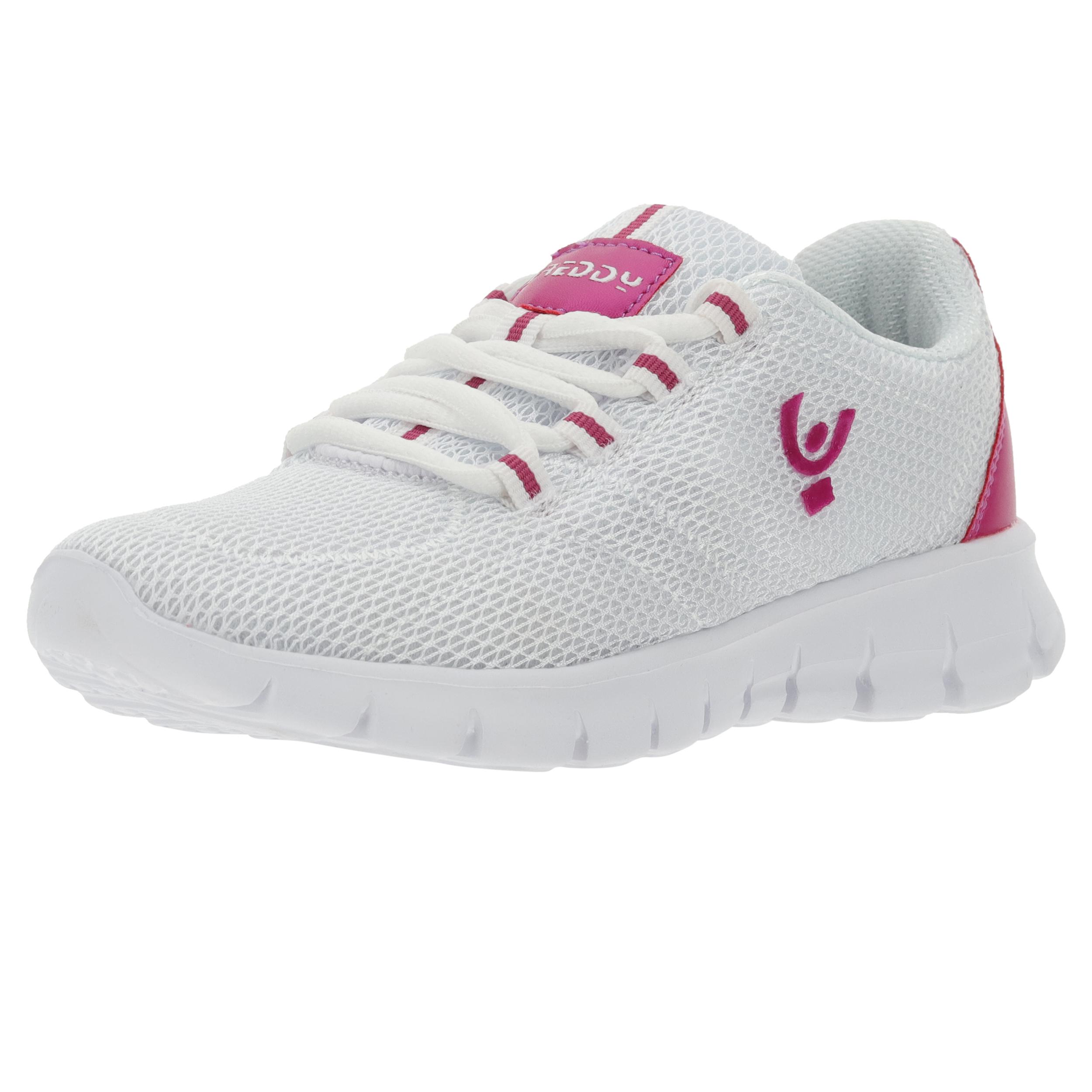 Sneakers ultraleggere mesh bianco e dettagli a contrasto