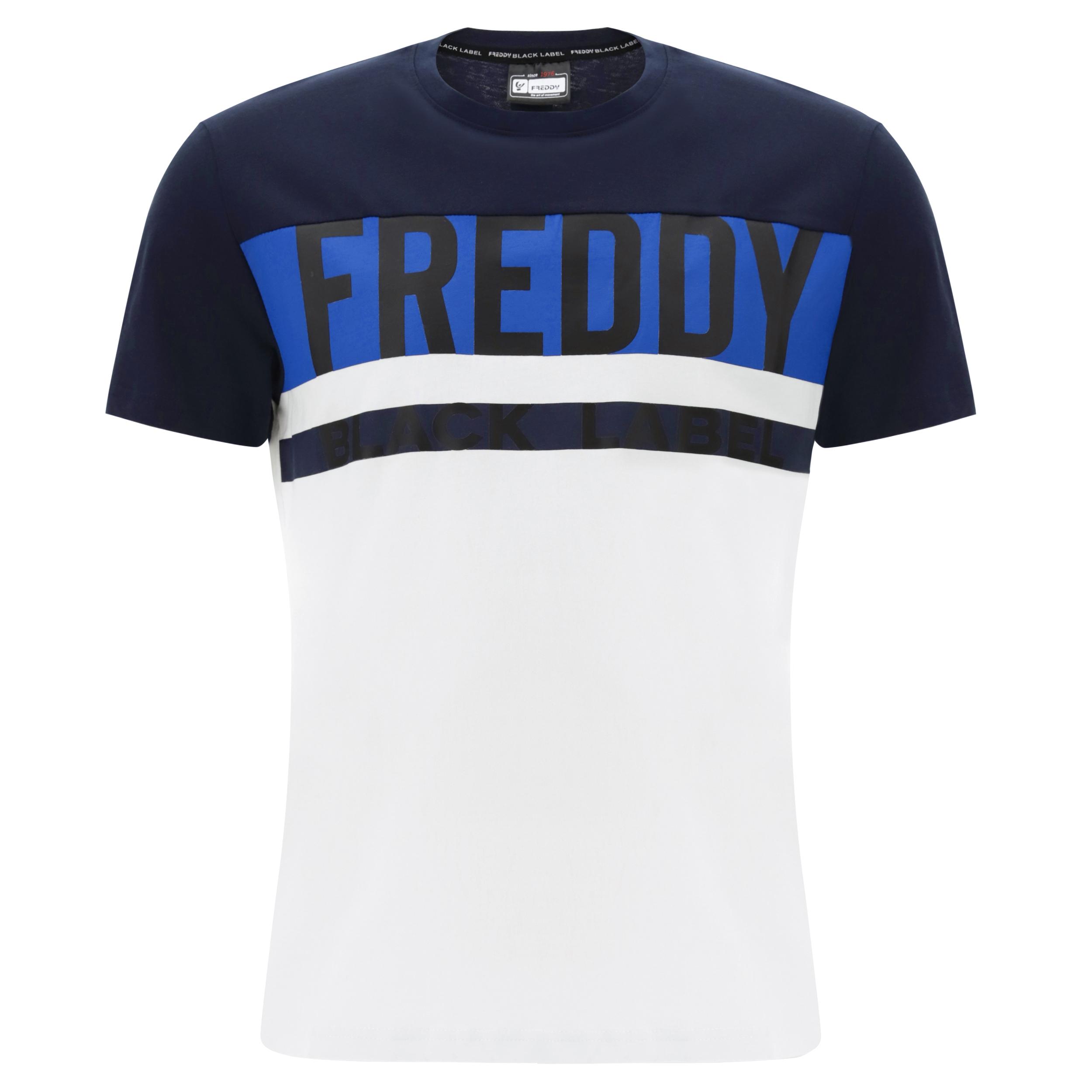 T-shirt con carré a contrasto colore FREDDY BLACK LABEL