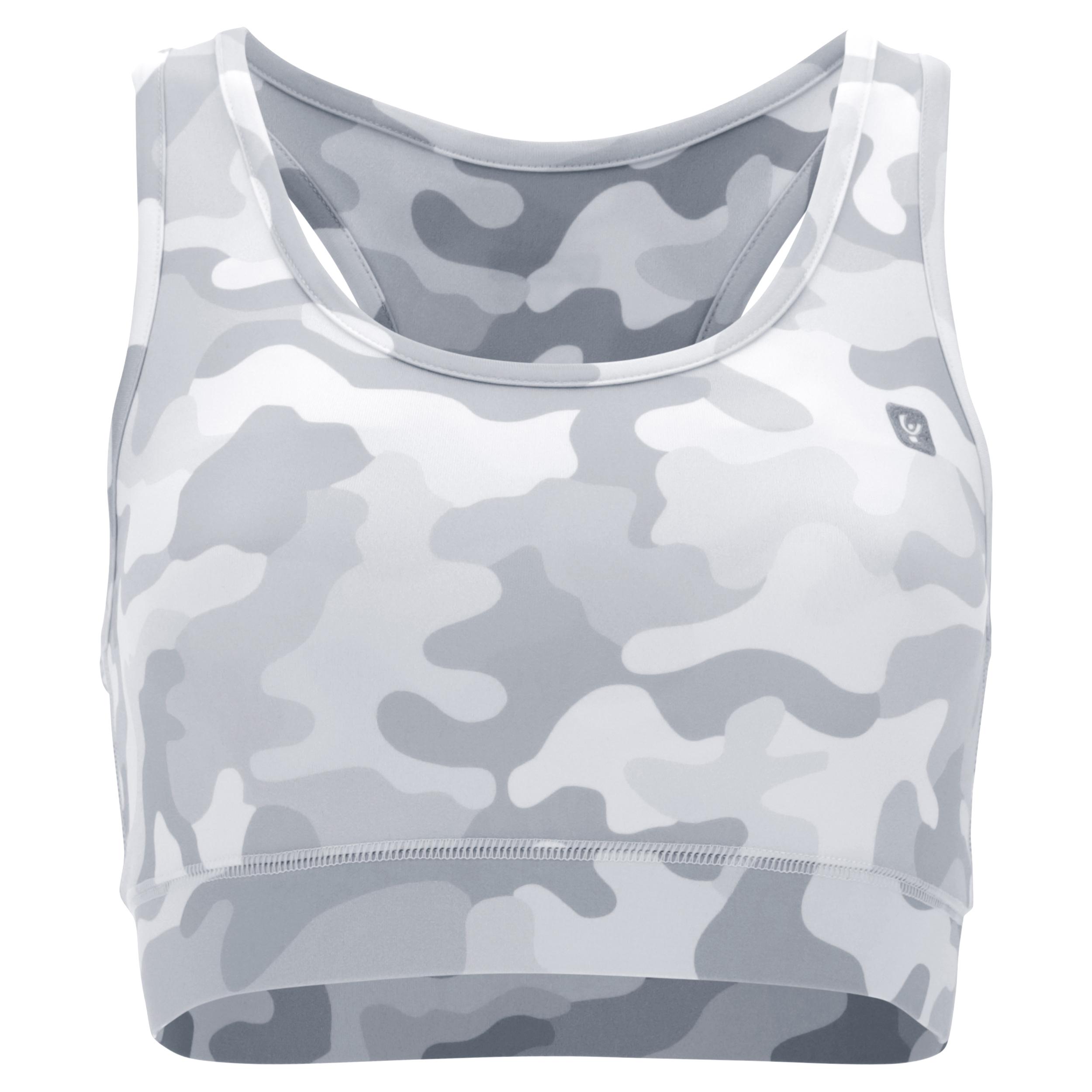 Reggiseno sportivo in tessuto traspirante camouflage