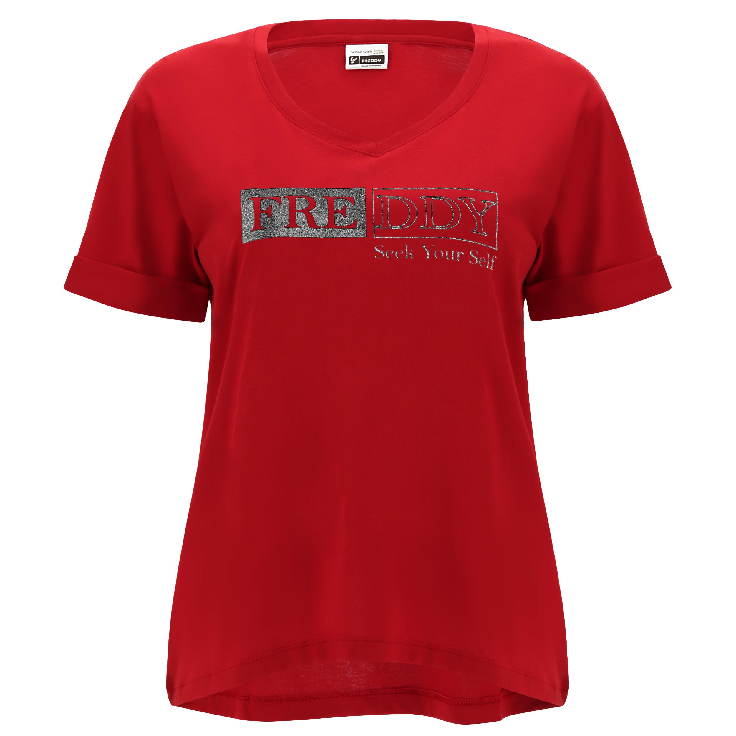 T-shirt taglio morbido e stampa SEEK YOUR SELF